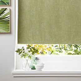 Colours Taku Corded Lime Blossom Roller Blind (L)160cm