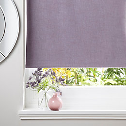 Colours Taku Corded Wisteria Roller Blind (L)160cm (W)60cm