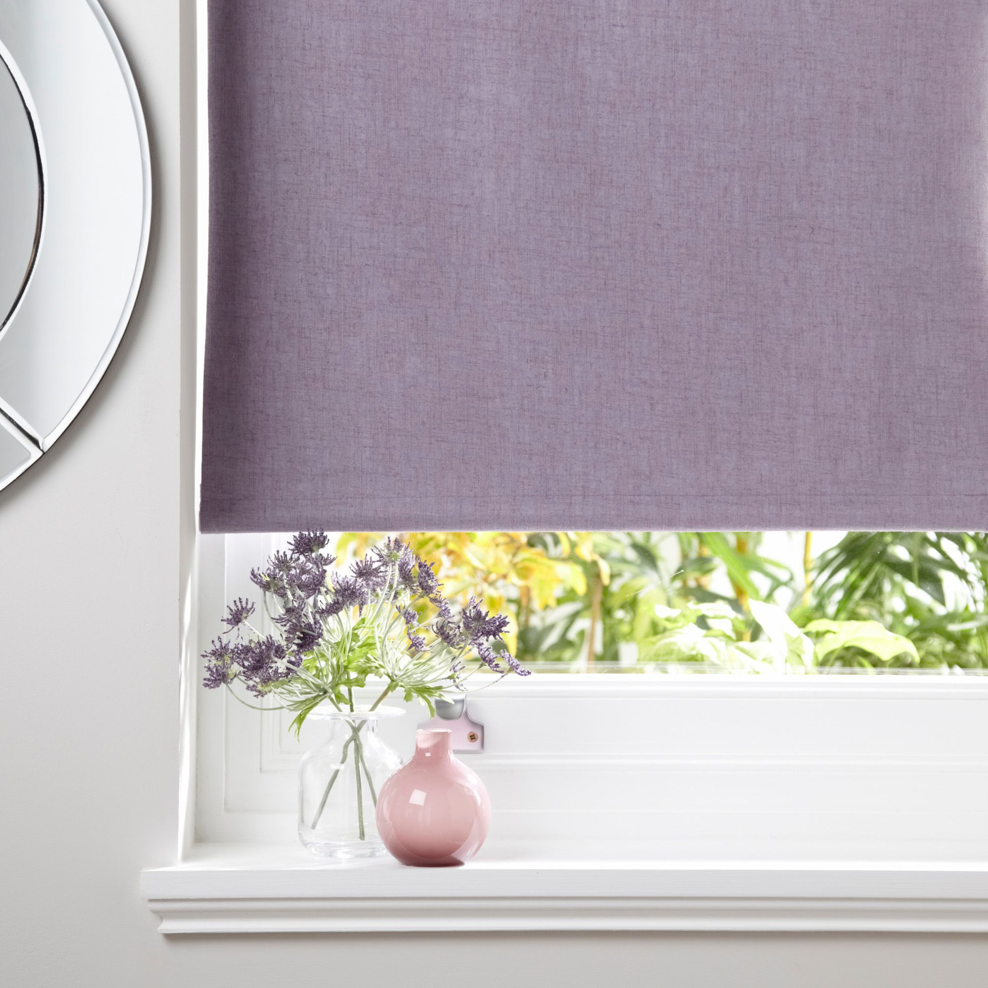 Colours Taku Corded Wisteria Roller Blind (L)160cm (W)180cm