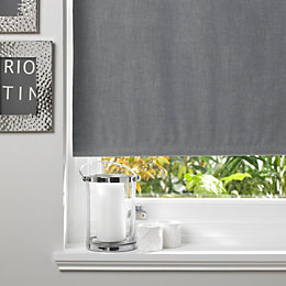 Colours Taku Corded Concrete Roller Blind (L)160cm (W)120cm