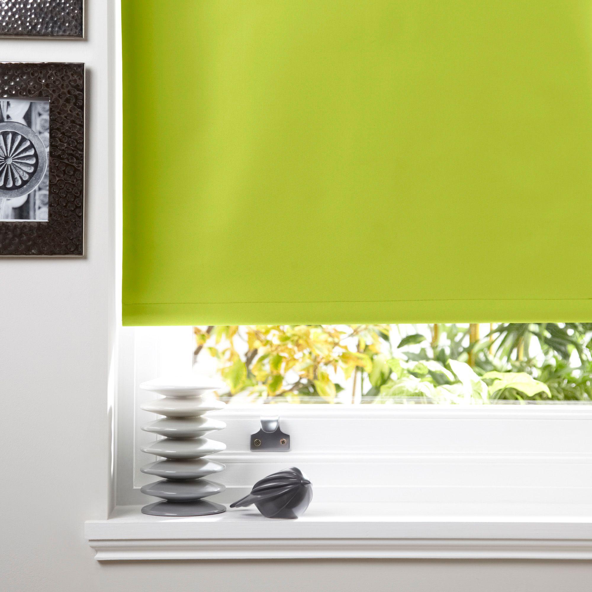 Bathroom Window Blinds B&Q colours kona corded chlorophyll roller blind (l)160 cm (w)180 cm