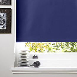 Colours Kona Corded Navy Blue Roller Blind (L)160cm