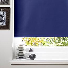 Colours Kona Corded Navy Blue Roller Blind (L)160cm