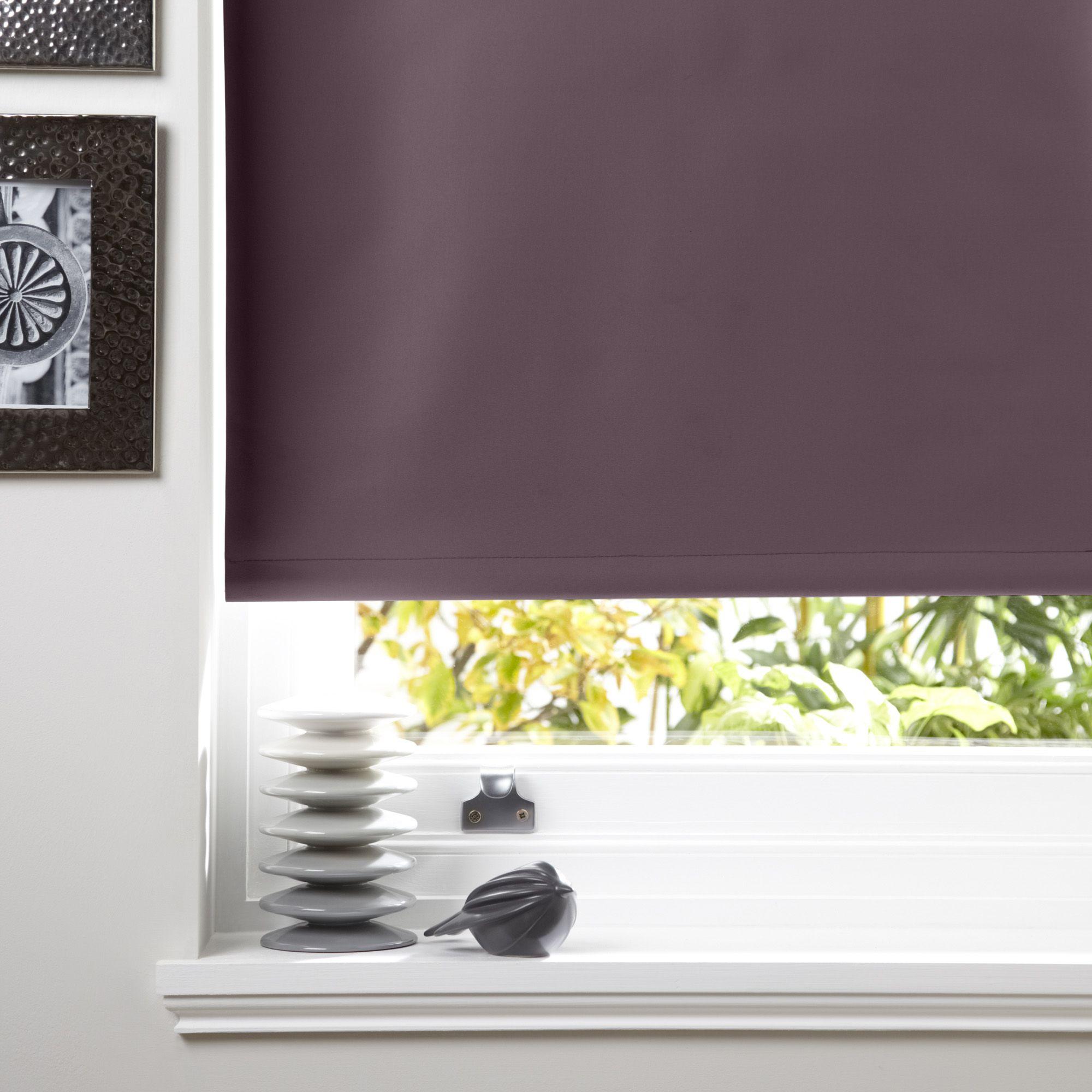 Colours Kona Corded Blueberry Roller Blind (L)160cm (W)120cm