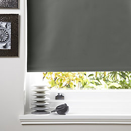 Colours Kona Corded Concrete Roller Blind (L)160 cm