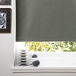 Colours Kona Corded Anthracite Roller Blind (L)160cm (W)60cm