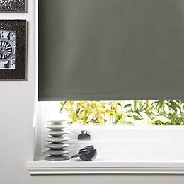 Colours Kona Corded Anthracite Roller Blind (L)160cm (W)90cm