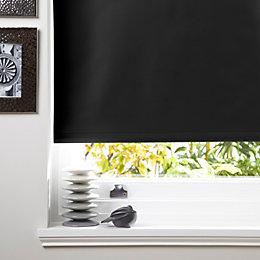 Colours Kona Corded Black Roller Blind (L)160cm (W)60cm