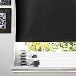 Colours Kona Corded Black Roller Blind (L)160cm (W)90cm