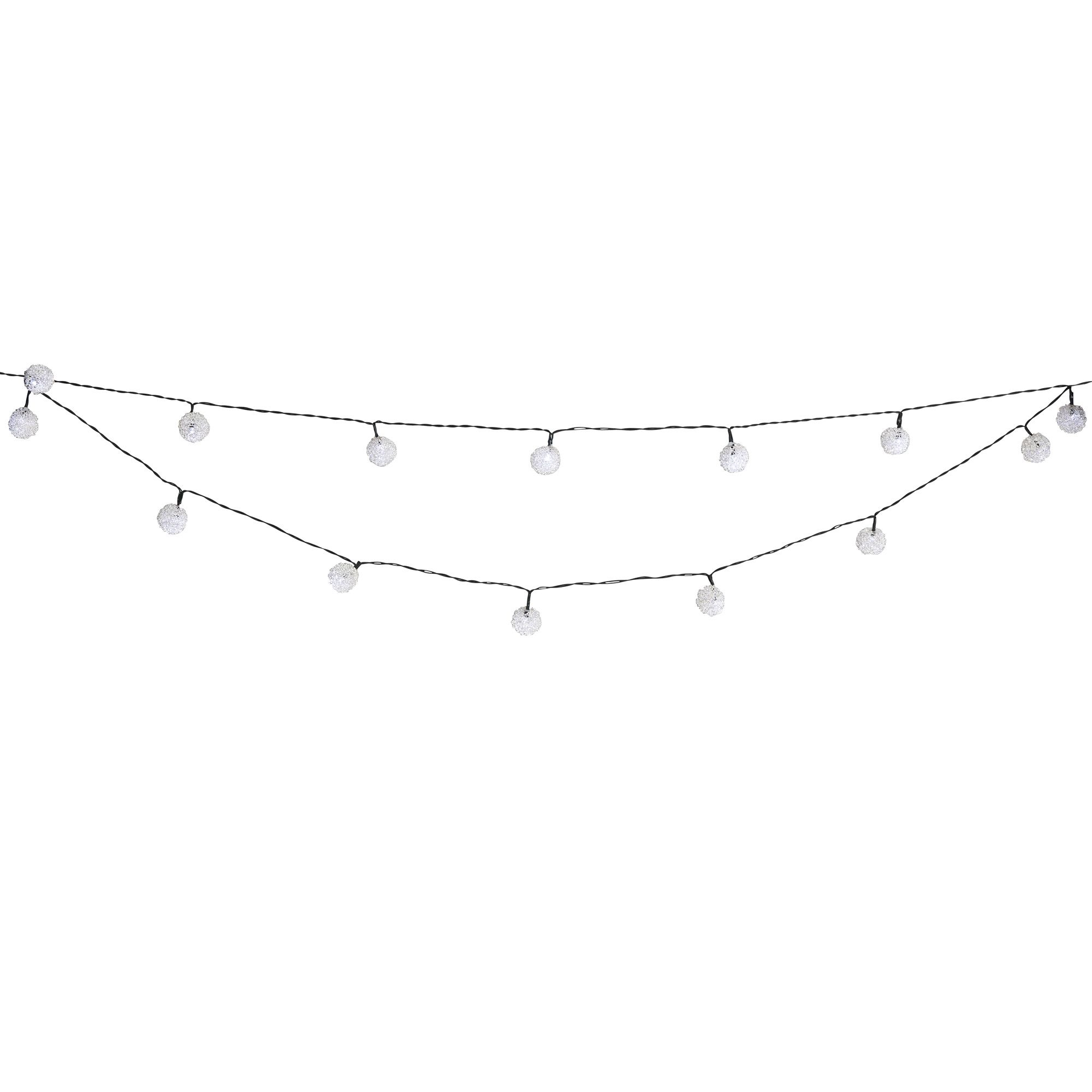 String Of White Lights Clipart : Blooma Pallas Mains Powered 20 LED String Lights Departments DIY at B&Q
