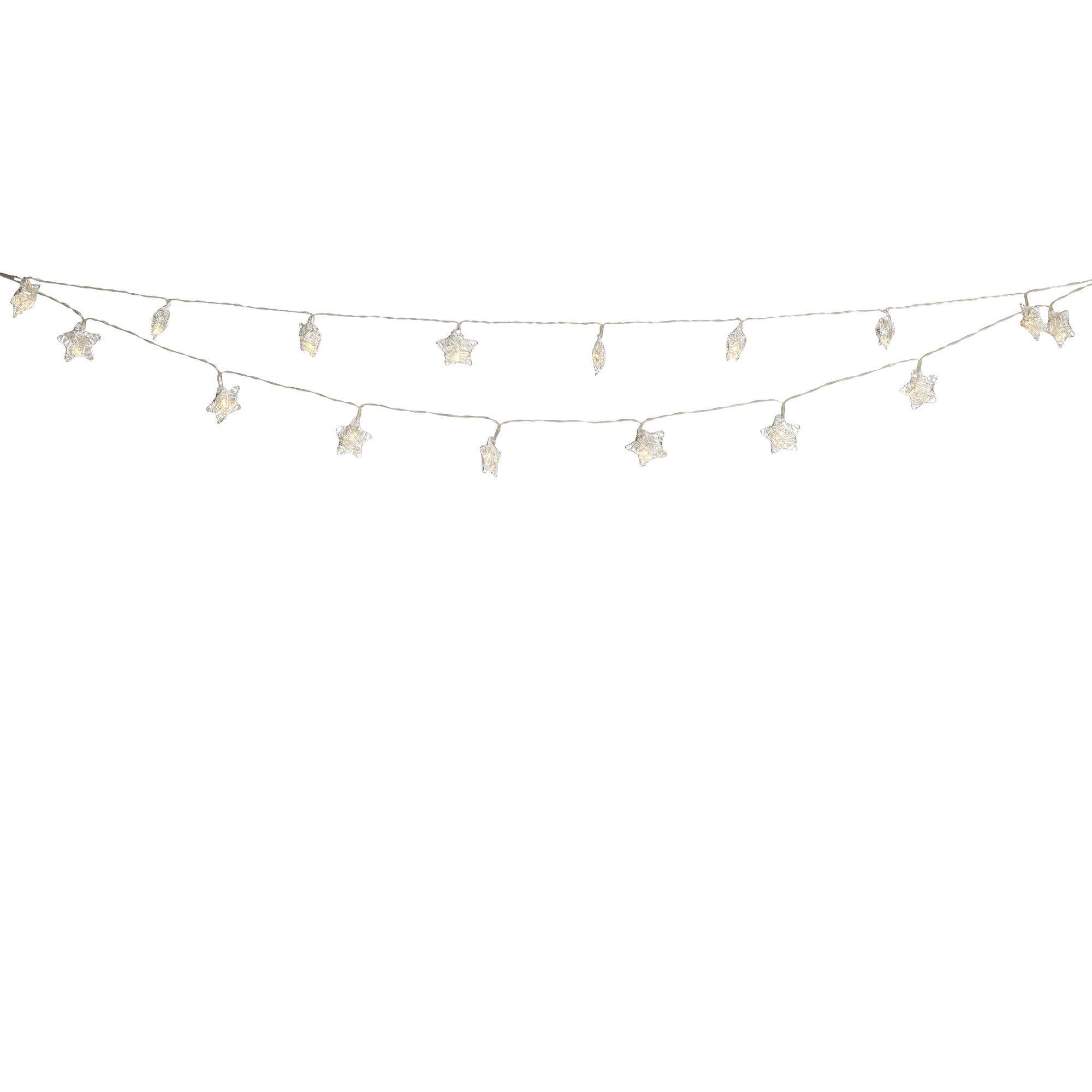 Blooma Nona Star Solar Powered 20 LED String Lights Departments DIY at B&Q