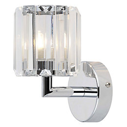 Pereti Chrome Effect Single Wall Light