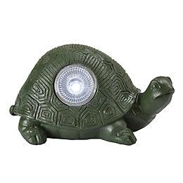 Blooma George Green Tortoise Solar Powered LED Ornamental