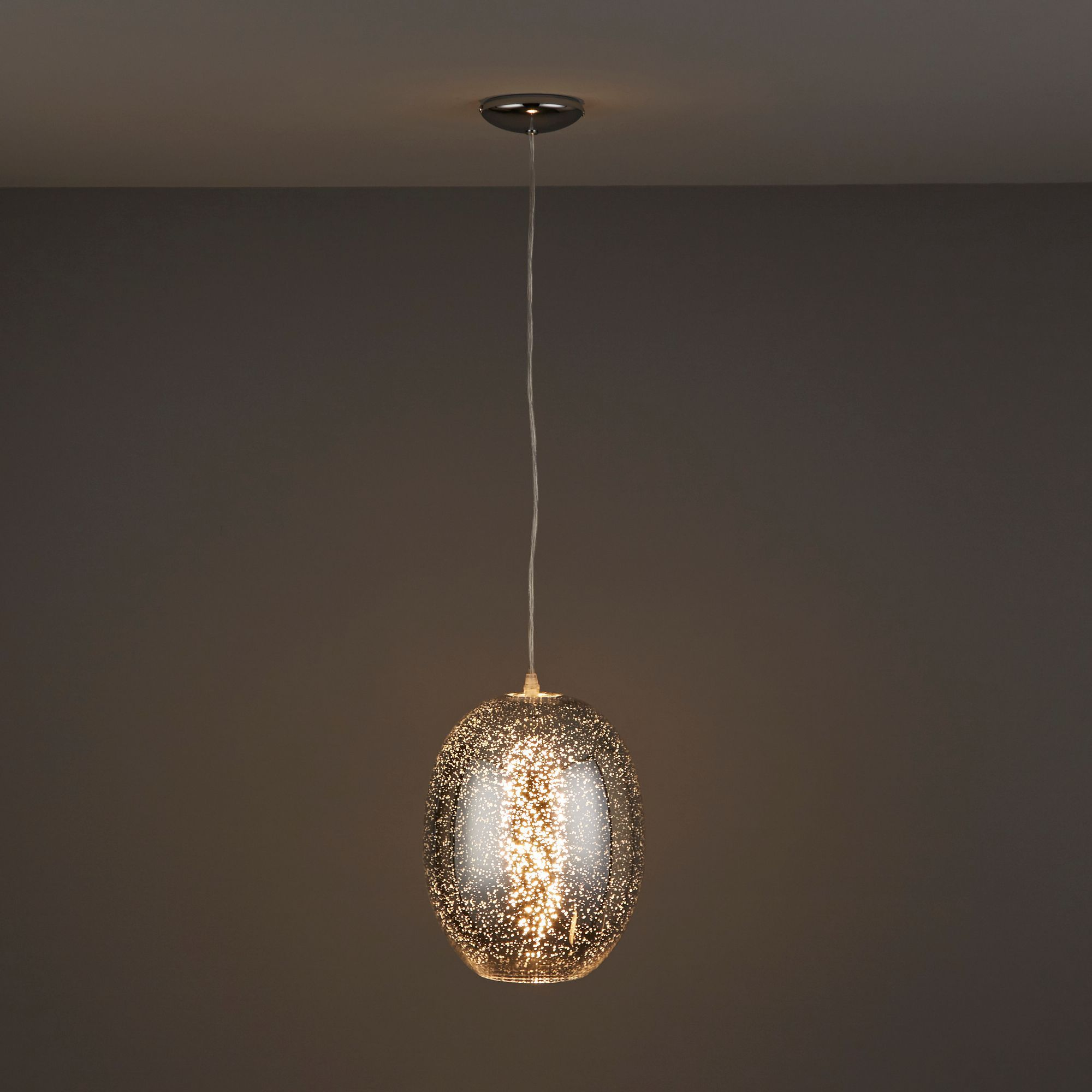 Guerrein Chrome Effect Pendant Ceiling Light