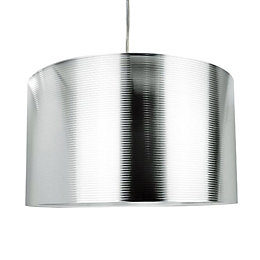 Colours Corrigan Silver Chrome Effect Crossband Light Shade