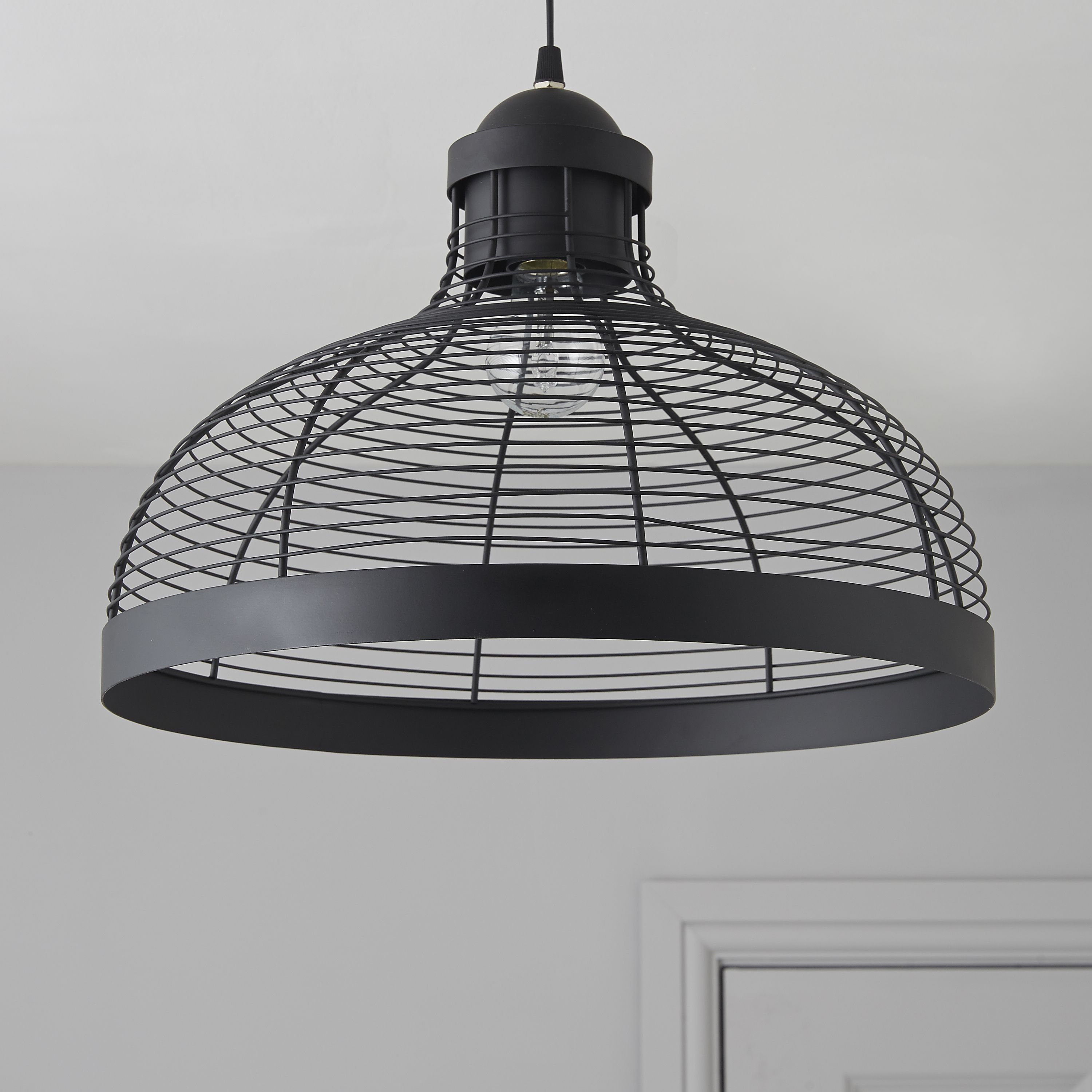 Ceiling Cable Lighting : Baici wire black pendant ceiling light departments diy