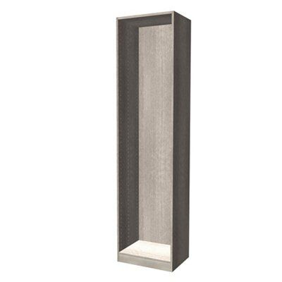 Darwin Modular Grey Oak Effect Tall Wardrobe Cabinet (h)2356mm (w)500mm (d)374mm