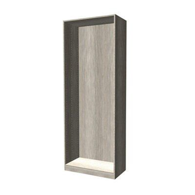 Darwin Modular Grey Oak Effect Wardrobe Cabinet (h)2004mm (w)750mm (d)374mm