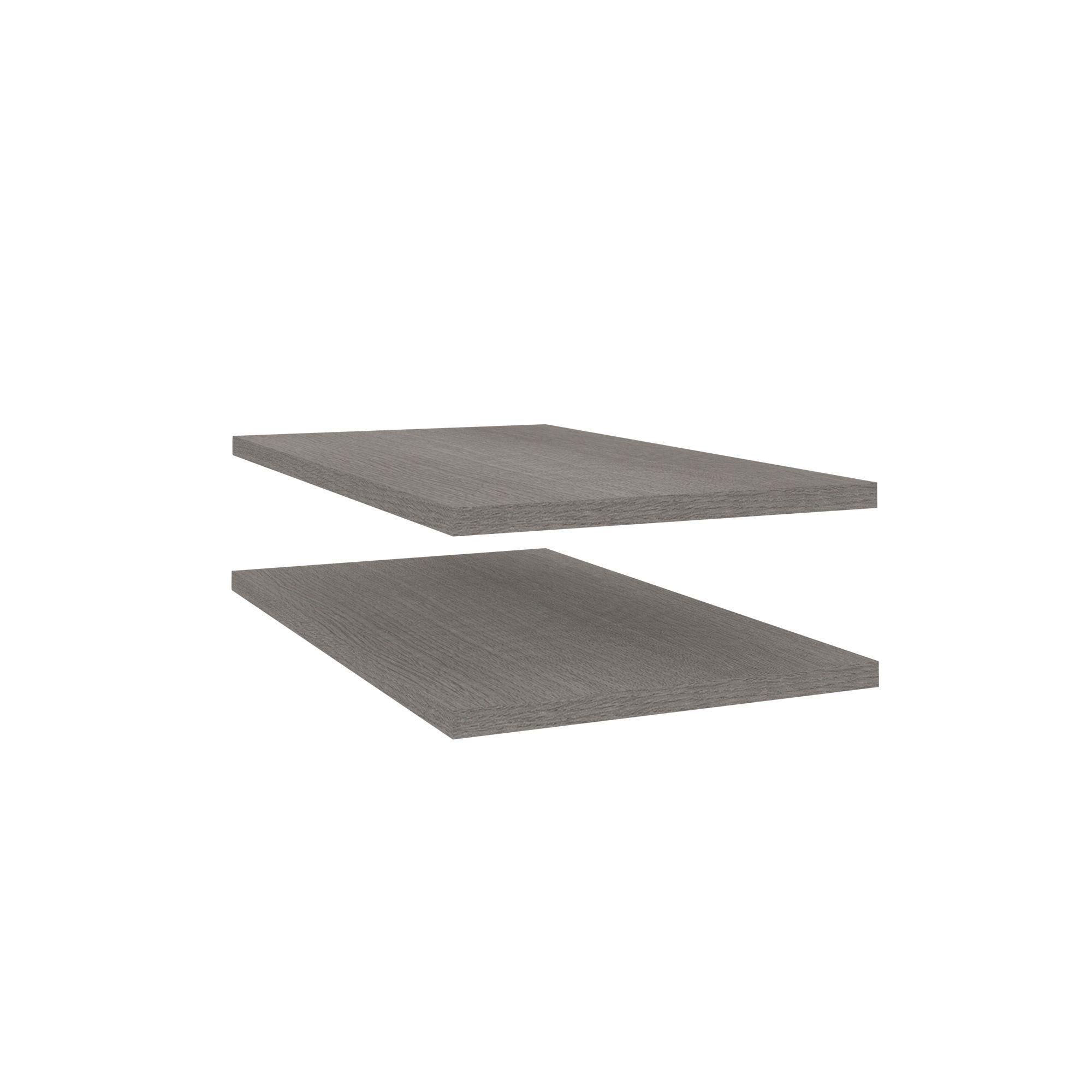Darwin Grey Oak Effect Corner Shelves (l)272mm, Pack Of 2