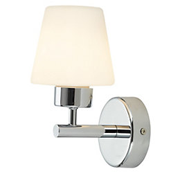 Mizar Chrome Effect Single Wall Light