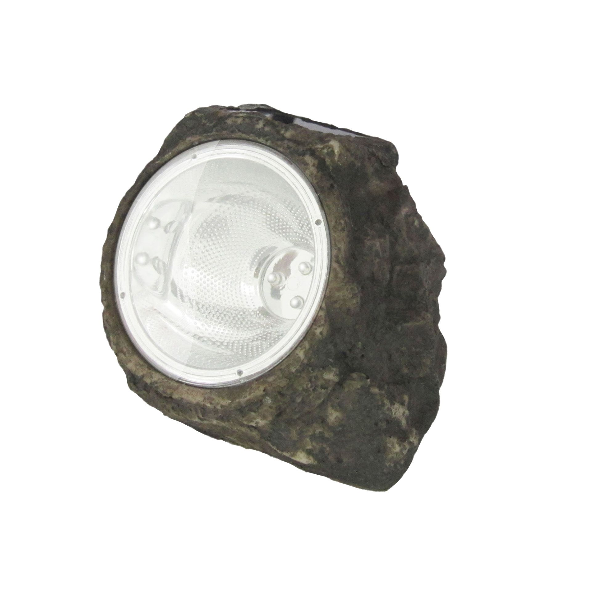 Blooma Dark Grey Solar Powered Led Rock Light Departments Tradepoint