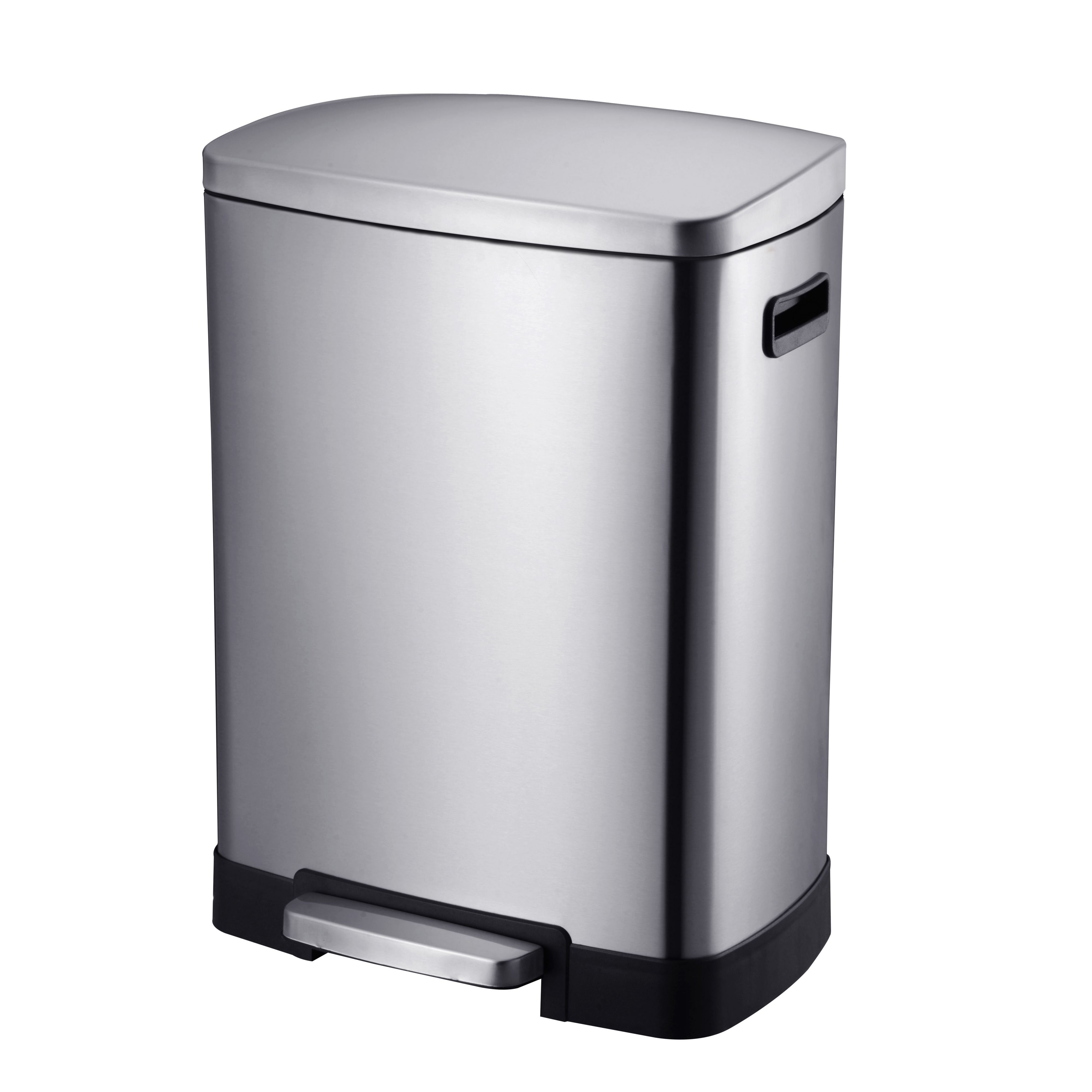 Cooke & Lewis Stainless Steel Rectangular Recycle Pedal Bin