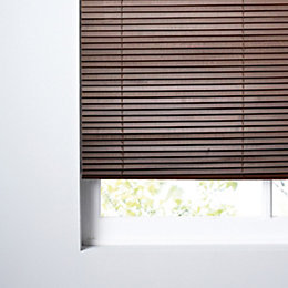 Colours Marco Dark Brown Venetian Blind (W)90 cm