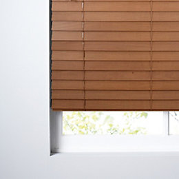 Colours Marco Mid Brown Venetian Blind (W)60cm (L)160cm