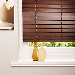 Colours Marco Dark Brown Venetian Blind (W)120cm (L)160cm