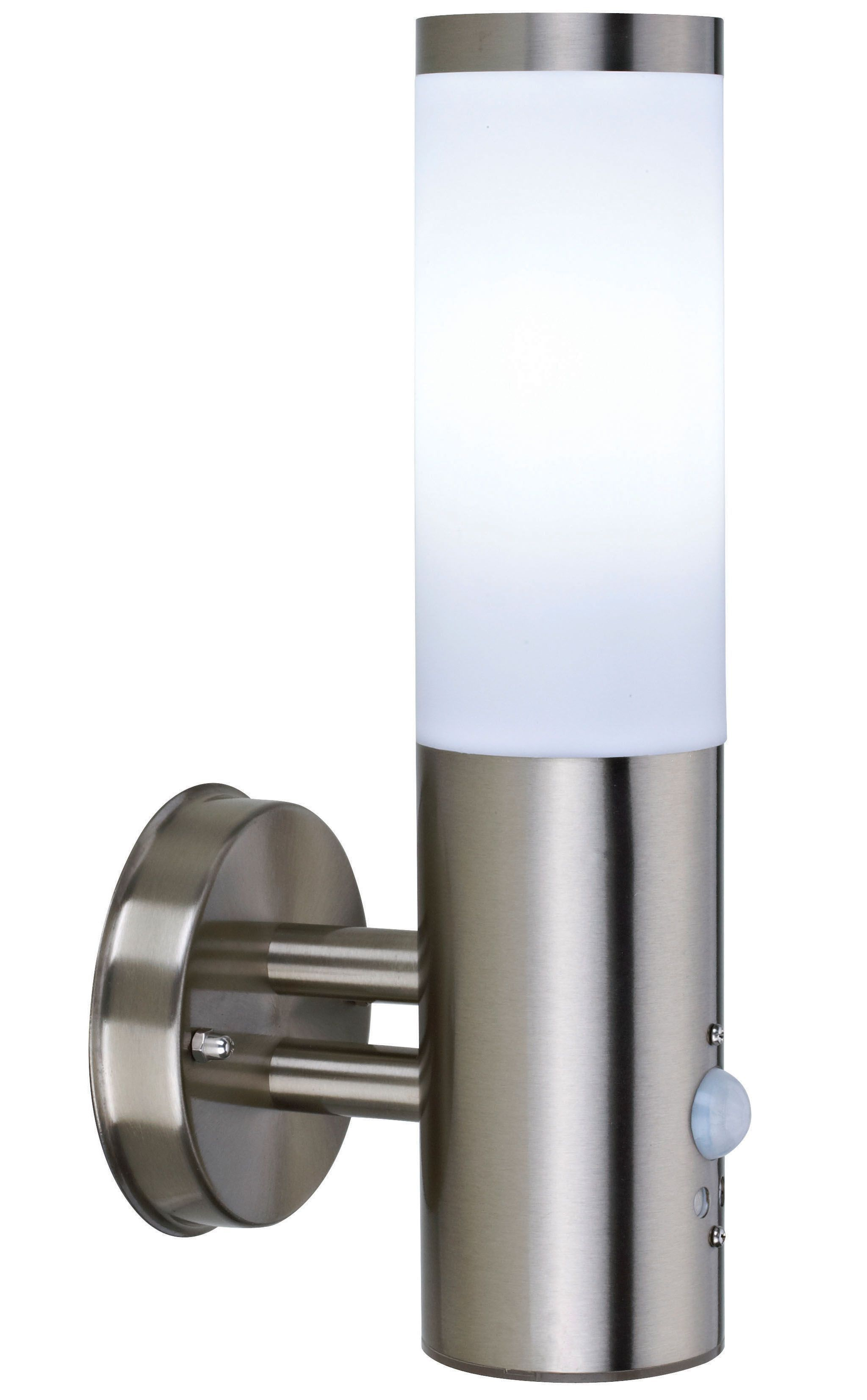 External Wall Lights Pir : Blooma Cano Stainless Steel External Pir Wall Light Departments DIY at B&Q