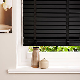 Colours Silvia Black Venetian Blind (W)90cm (L)180cm