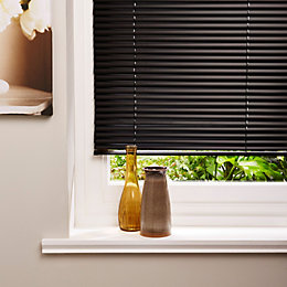 Colours Concordi Black Venetian Blind (W)120cm (L)180cm