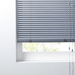 Colours Concordi Grey Venetian Blind (W)90cm (L)180cm