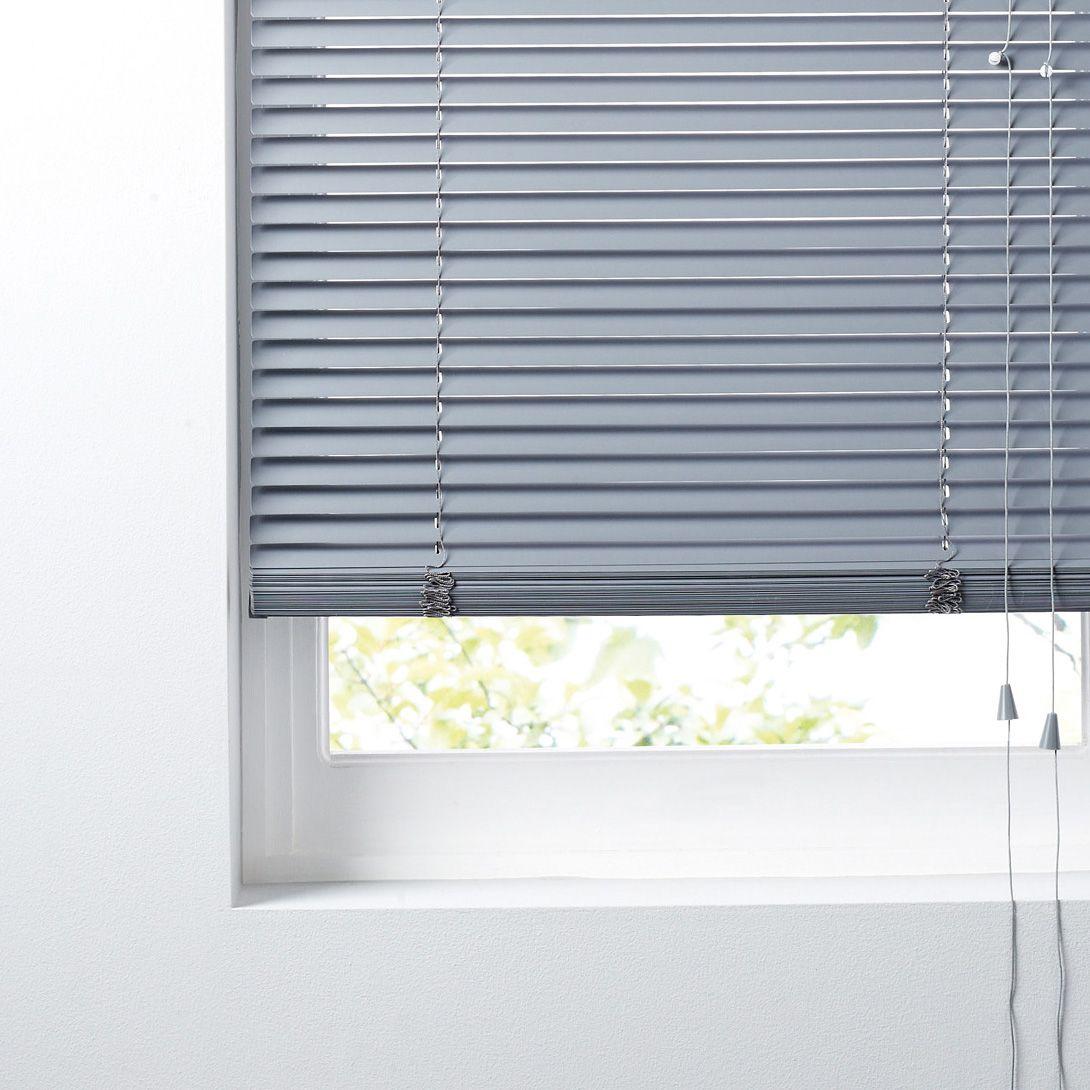 Colours Concordi Grey Venetian Blind (w)180 Cm (l)180 Cm