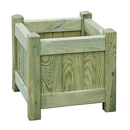 Square Wooden Planter (H)33cm (L)33cm