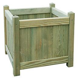 Square Wooden Planter (H)45cm (L)45cm
