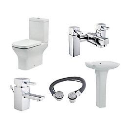 Cooke & Lewis Capriana Toilet, Basin & Tap