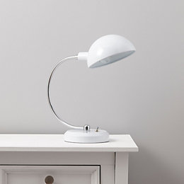 Walsh Dome Head White Table Lamp