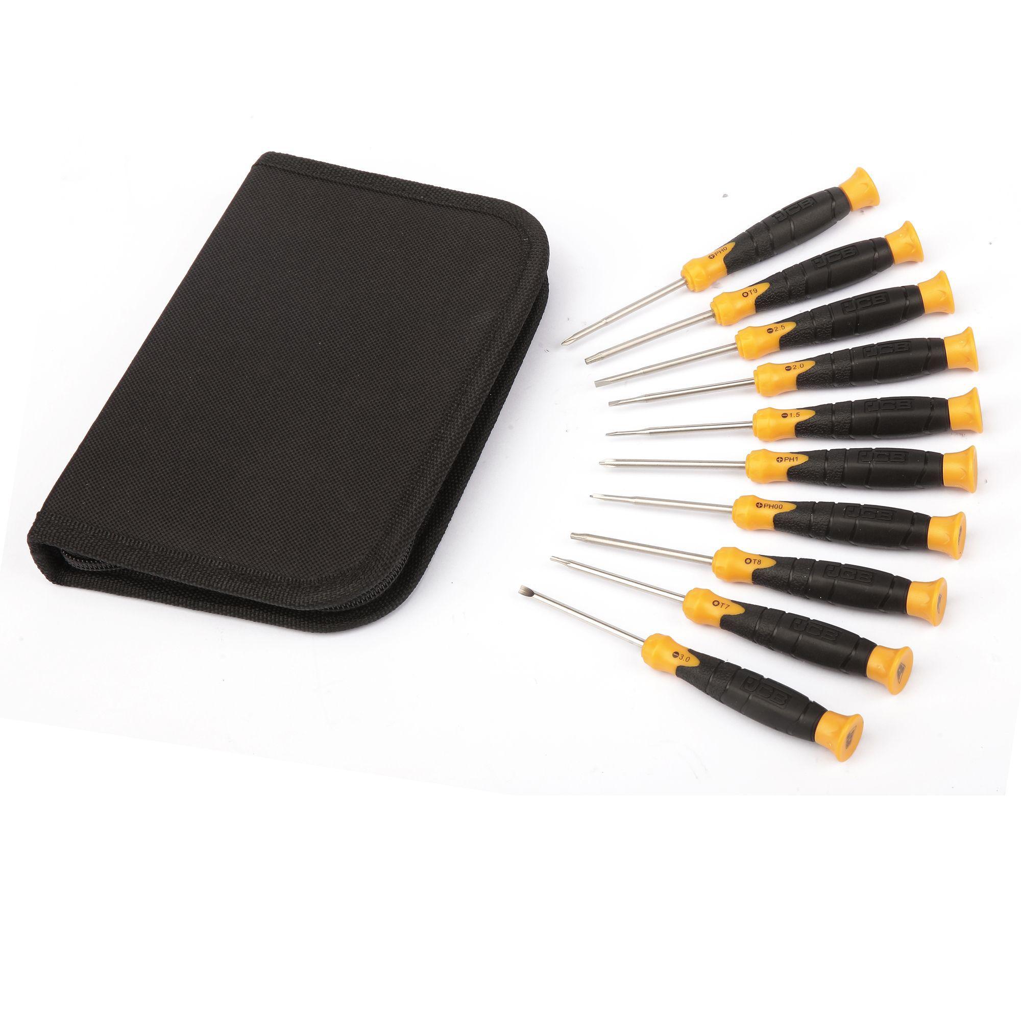 jcb 10 piece mixed screwdriver set departments diy at b q. Black Bedroom Furniture Sets. Home Design Ideas