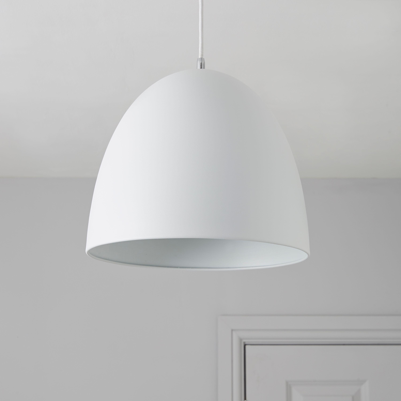 Bulyon Dome White Pendant Ceiling Light