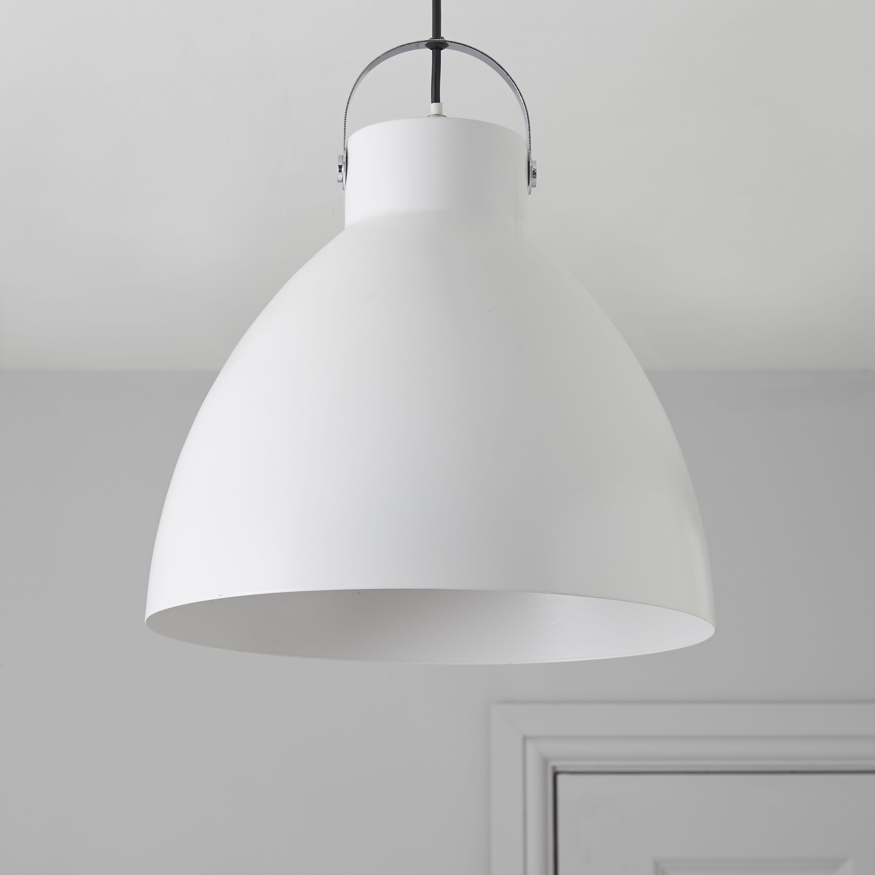 Tibbon White Pendant Ceiling Light Departments Diy At B Amp Q