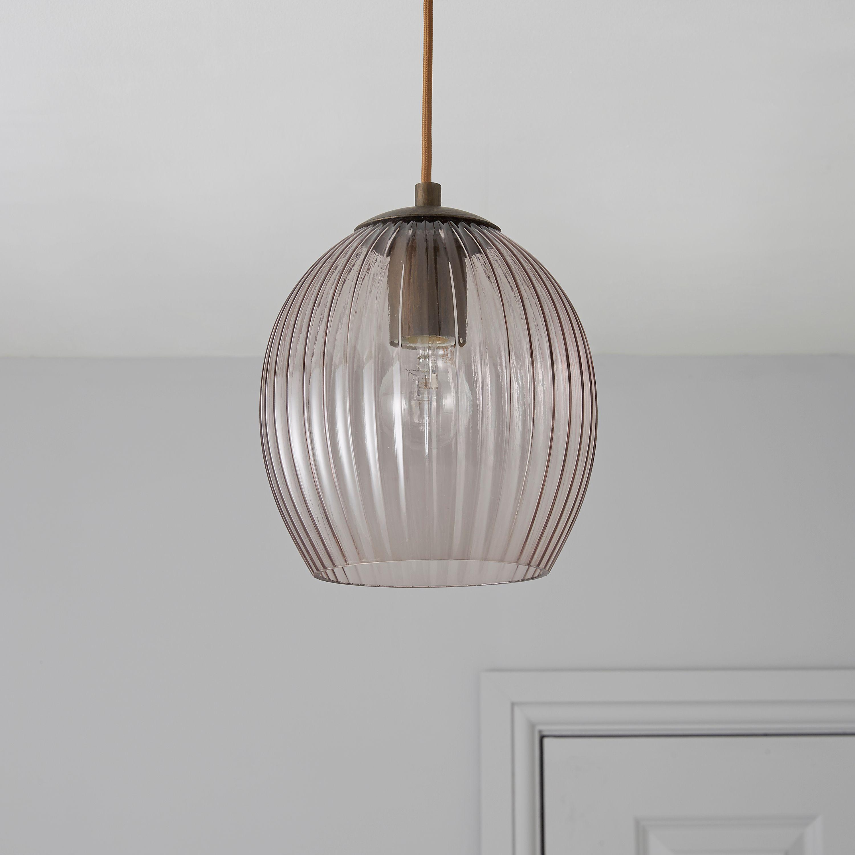 Charissa Grey Tinted Pendant Ceiling Light