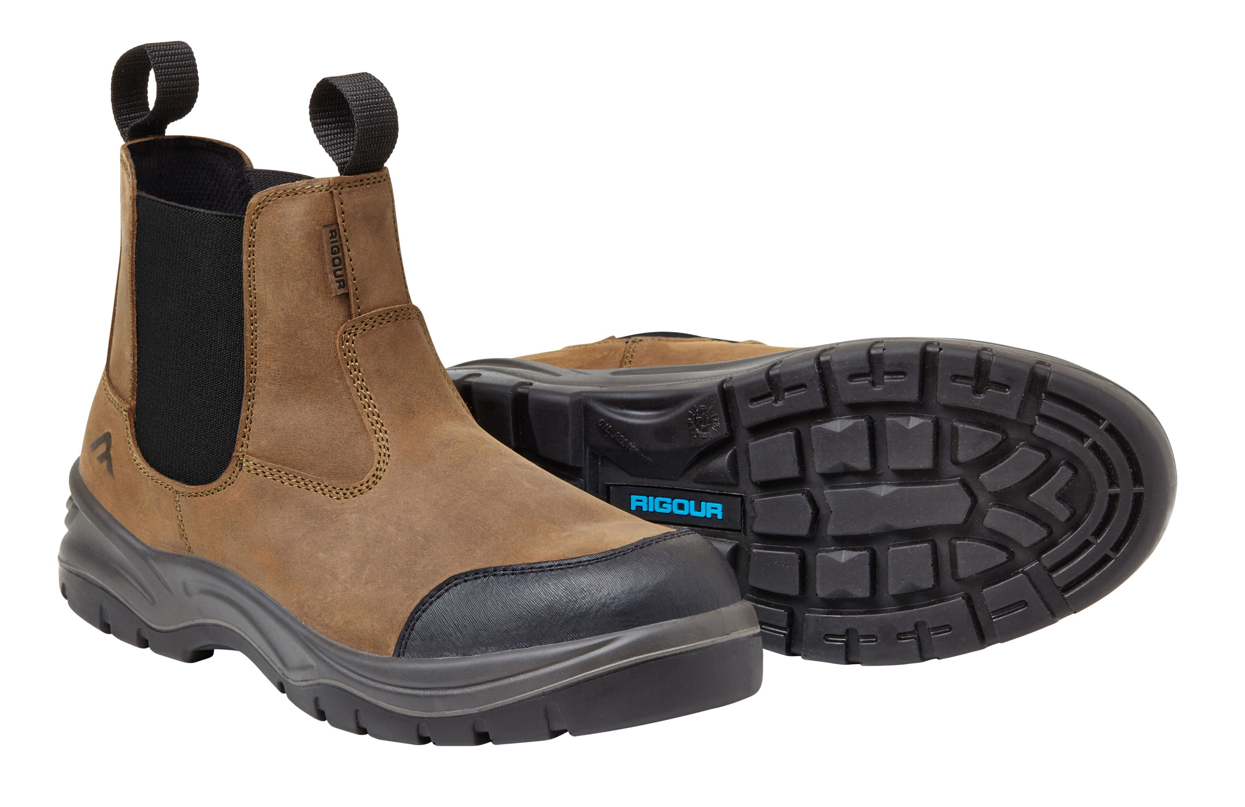 Rigour Brown Dealer Boots, Size 8