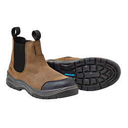 Rigour Brown Full Grain Leather Steel Toe Cap