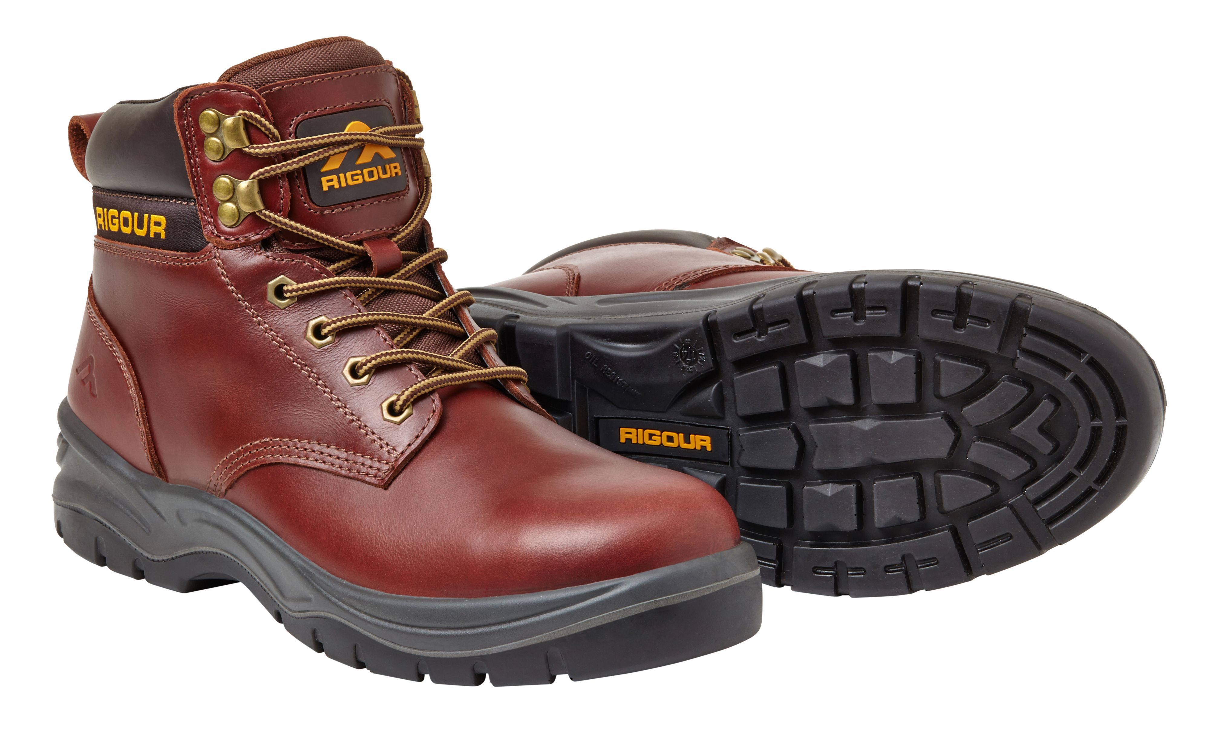 Rigour Galactic Tan Safety Work Boots, Size 8