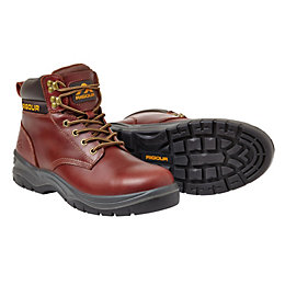 Rigour Galactic Tan Full Grain Leather Steel Toe