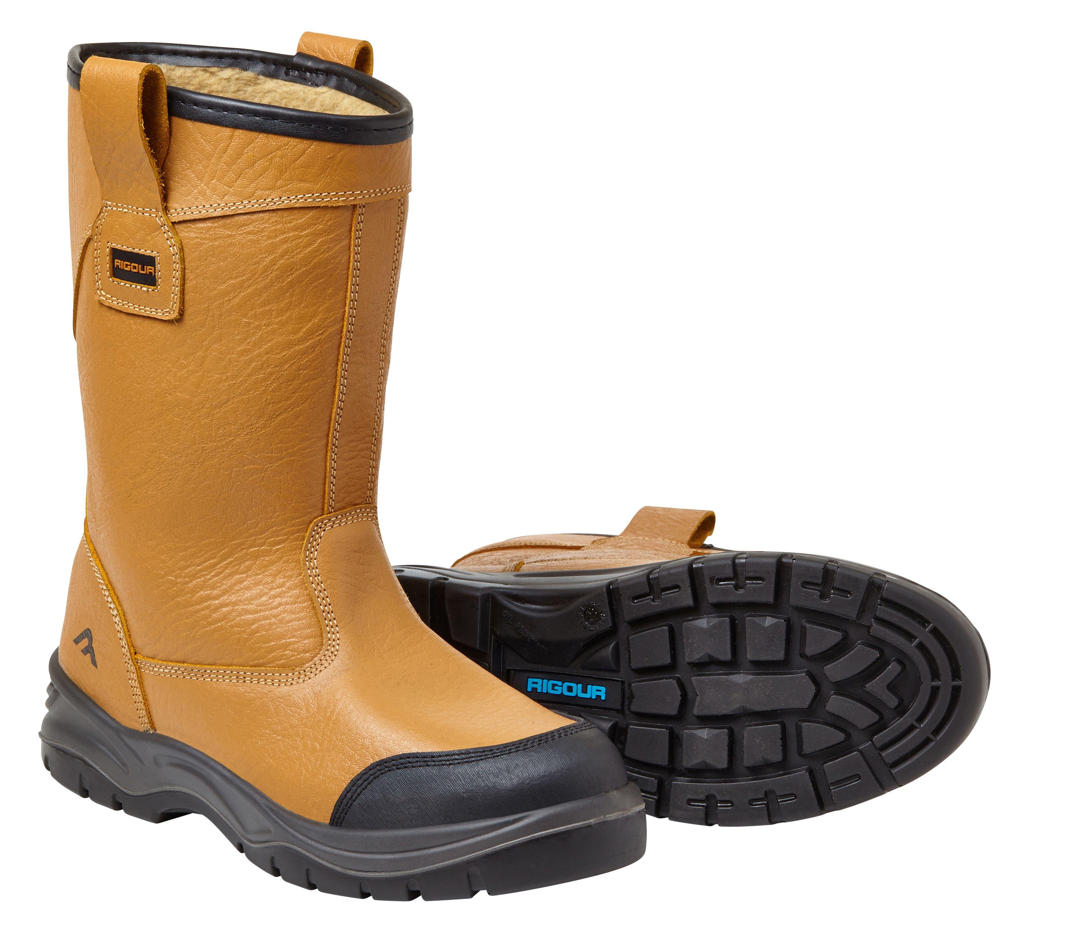 Rigour Tan Rigger Boots, Size 8