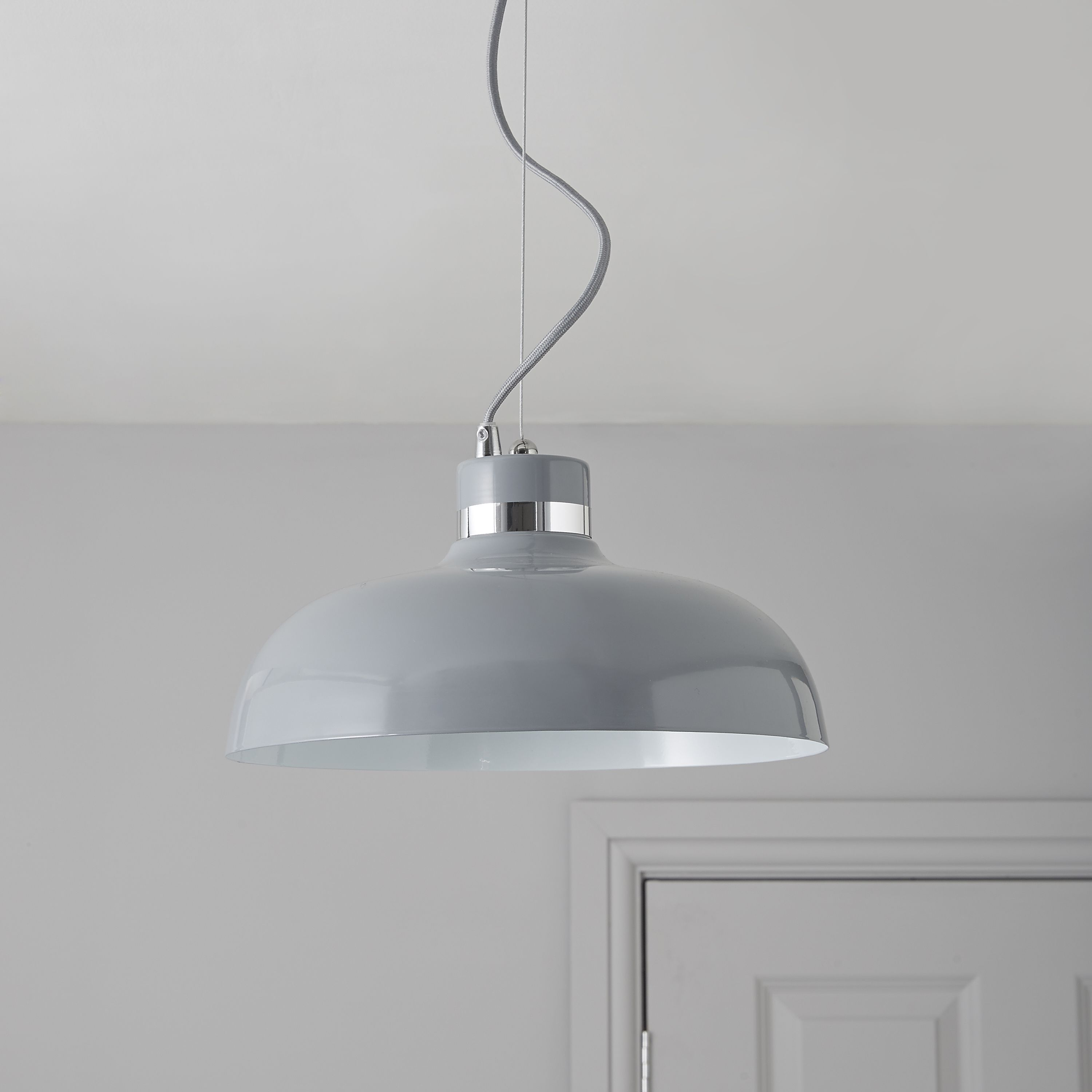 Holman Grey Pendant Ceiling Light
