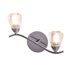 Kinsell Nickel Effect Double Wall Light