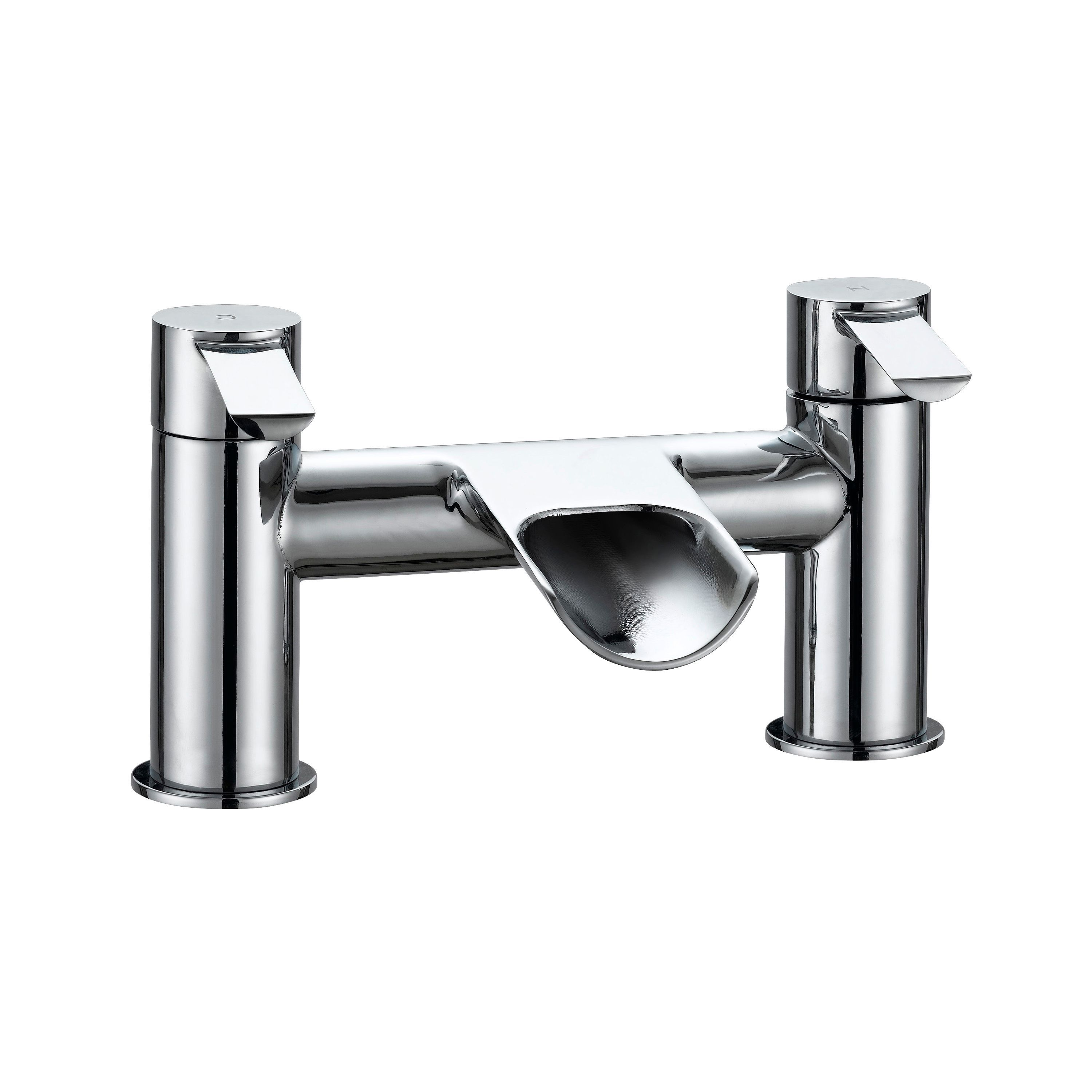 Cooke & Lewis Bamboo Chrome Bath Mixer Tap | Departments ...